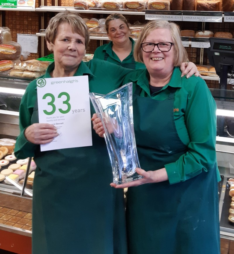 HINDLEY SHOP LOSES MARGARET BENNETT TO RETIREMENT