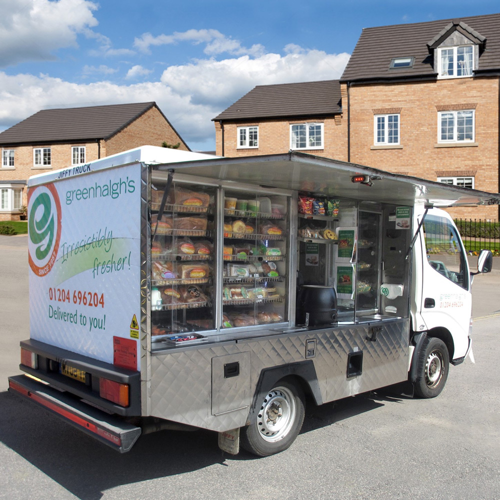 Jiffy Truck Neighbourhood Delivery Home Delivery Service Greenhalgh's Craft Bakery