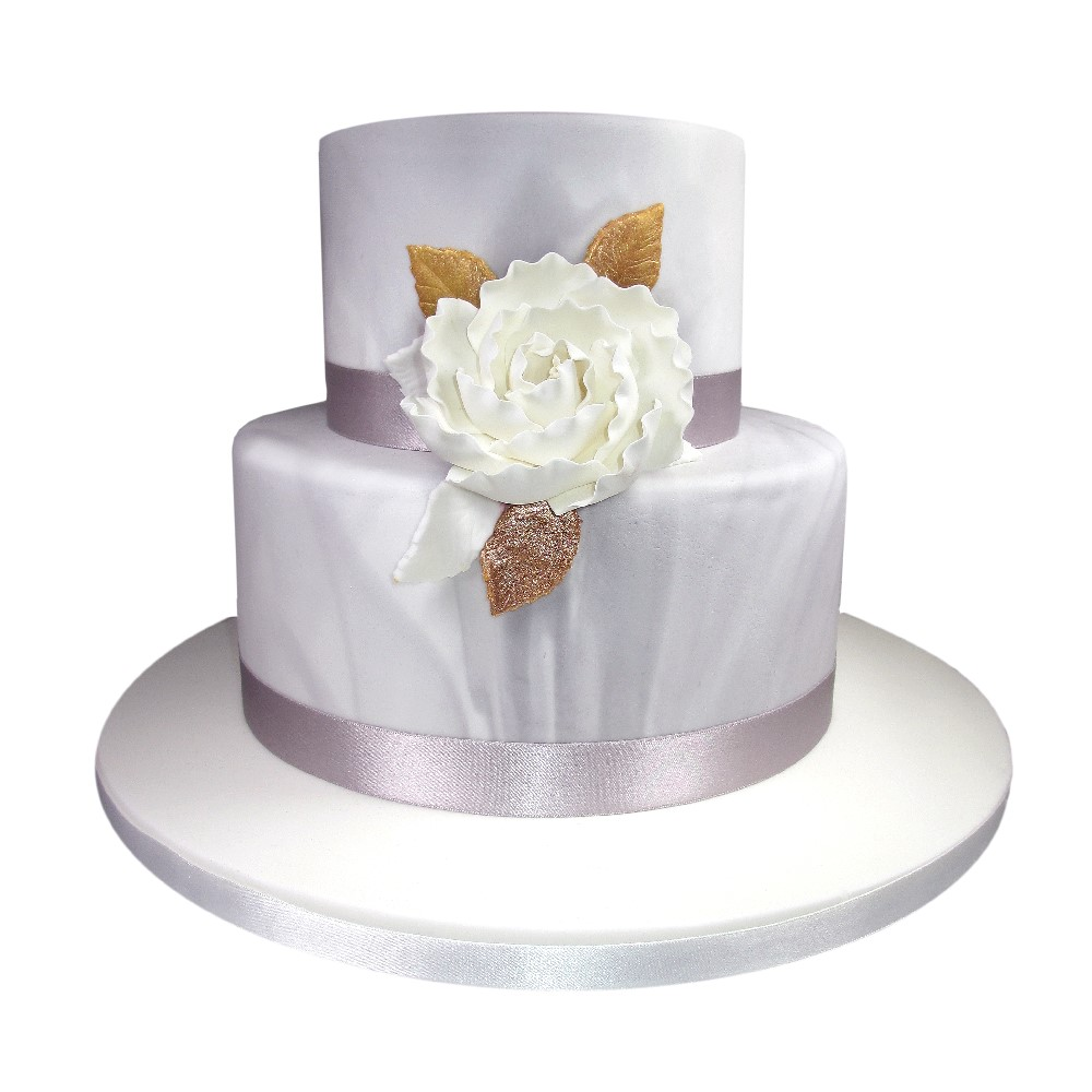 Silver Marble Wedding Cake